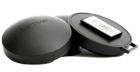 Radtrak alpha track detectors.